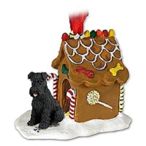 - Schnauzer Black w/Uncropped Ears Ginger Bread House Ornament