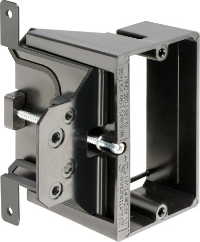 Arlington LVA1-25 Adjustable Depth Low Voltage Mounting Brackets, Fits up to 1-1/2-Inch Walls, 1-Gang, 25-Pack by Arlington Industries