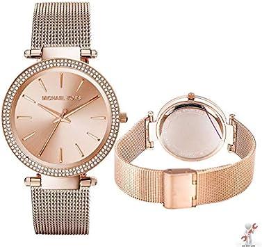 Michael Kors MK3369 - Reloj para Mujer (Acero Inoxidable, 39 mm), Color Oro Rosa: Amazon.es: Electrónica