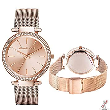 a831636e5586 New Michael Kors MK3369 Rose Gold Darci Stainless Steel  Amazon.co.uk   Electronics