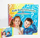 KIDS QUESTIONNAIRES FOR MEMORABLE ANSWERS - A Child's Memory Booklet to Remember the Funny Things Kids Say and Ask. The perfect gift for any ocassion for parents everywhere.