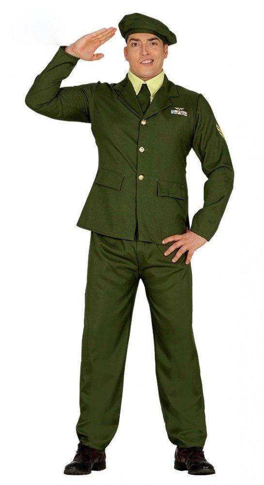 shoperama Verde 1.3603.L12 Disfraz para Hombre Talla M/L Militar ...