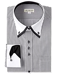 Dress Shirts for Men Long Sleeve Triple Button Cutaway Design Shirts Japanese Products