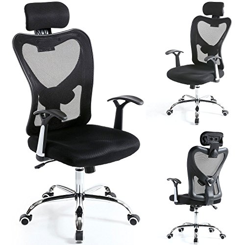 Mesh Chair Black Mesh Office Chair With Headrest Executive Computer Office Chair Gtracing