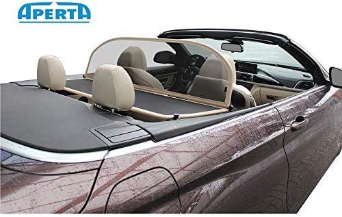 Aperta Windschott passend f/ür BMW 6er Reihe E64 100/% Passgenau OEM Qualit/ät Schwarz Windstop Windabweiser