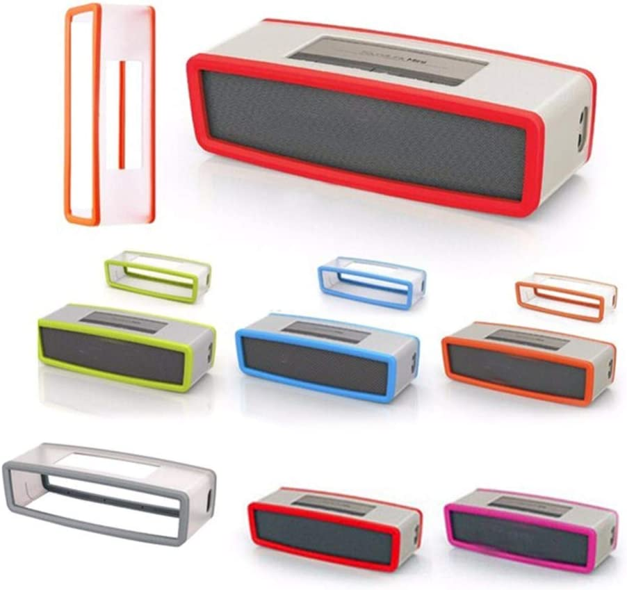 Thboxes Portable Silicone Case for Bose SoundLink Mini 1 2 Sound Link I II Bluetooth Speaker Protector Cover Skin Box Speakers Pouch Bag red