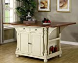Coaster Large Scale Kitchen Island in a Buttermilk and Cherry Finish Review