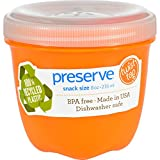 Preserve Orange Mini Round Food Storage Container, 8 Ounce - 12 per case.