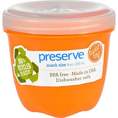 Preserve Orange Mini Round Food Storage Container, 8 Ounce - 12 per case.
