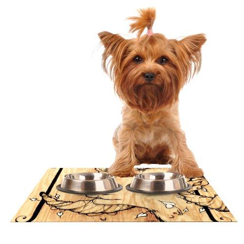 KESS InHouse Jennie Penny Ram  Feeding Mat for Pet Bowl, 18 by 13-Inch