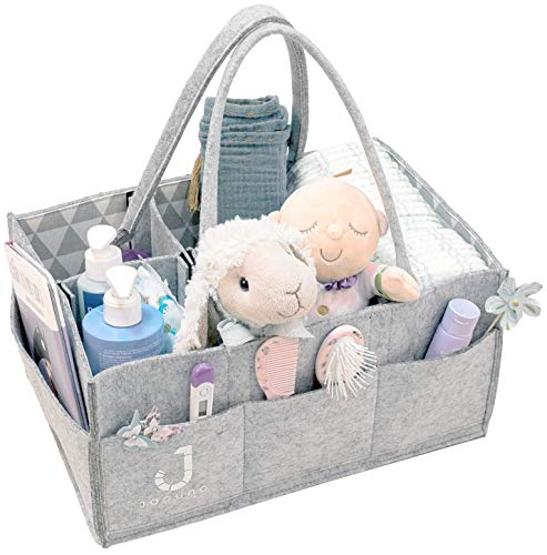 - Baby Diaper Caddy Organizer - Large Diaper Organizer - Changing Table Organizer - Removable Handles - Large Portable Car Travel Bag - Baby Registry Must Haves - Baby Shower Gift