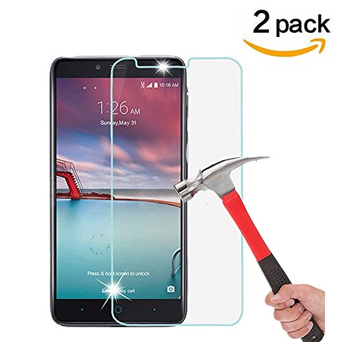 """ZTE Zmax Pro Screen Protector, [ 2 Pack ] Asstar 9H Hardness 2.5D Tempered Glass Bubble-Free Screen Protectors for ZTE Zmax Pro, ZTE Carry Z981 6"""""""