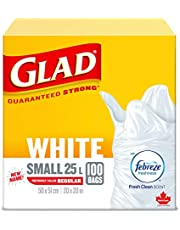 Glad White Garbage Bags - Febreze Fresh Clean Scent