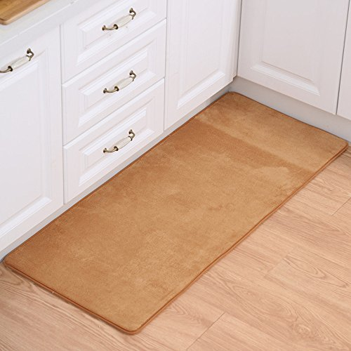 [Adasmile Super Comfortable Anti-slip Area Rugs/Floor Mat/Cover Carpets with Small Amount of Memory Foam for Living Room/bedroom/Nursery/Teens/Home Decorate,khaki,2Ftx4Ft] (Rectangular Bamboo Area Rugs)