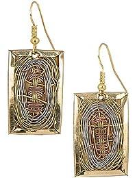 Handmade 3 Toned Basket Weave Earrings | SPUNKYsoul Collection