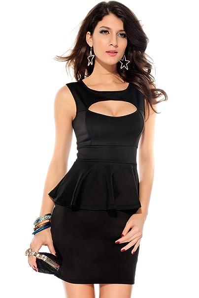 Ostenx Vestido de Moda con Diseño de Hueca Ropa Elástica de Noche para Fiesta, Club