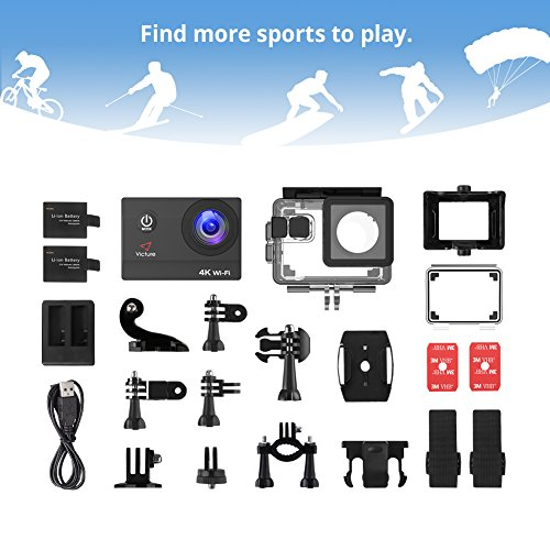 Victure 20MP WiFi Diving Waterproof Sport Surfing