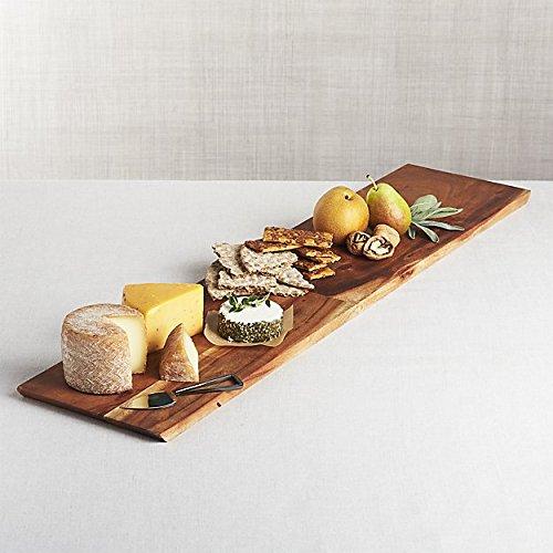 Bright Maison Wall Mountable Rectangular Cheese Serving Board and Decor Original Acacia (Fruit Design Table Lamp)
