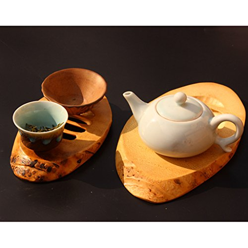 Homyl Bamboo Wooden Tea Cup Mat Wooden Tea Cup Pot Coaster Home Desk Decoration - L, as described by Homyl (Image #5)