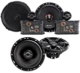 Pair MB Quart ZC1-216 6.5' 240w Component Speakers+(2) 6.5' Coaxial Speakers