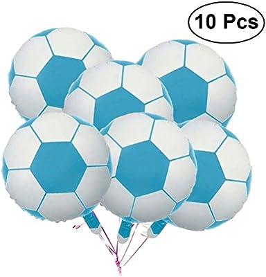 LUOEM 10 Piezas Globos de fútbol de 18 Pulgadas Balón de fútbol de ...