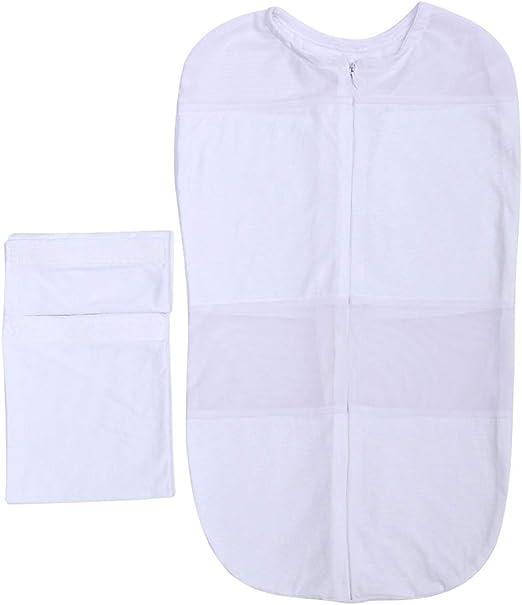Compra BigBig Style Bolsa de algodón Suave, Bata de baño, Saco de Dormir, para Dormir de bebé de Noche de Manta (Color : White) en Amazon.es