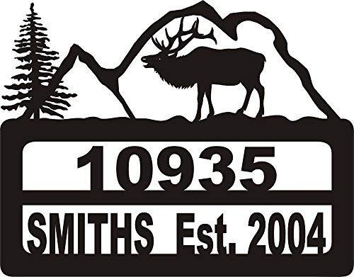 911 Address Yard Sign Elk Mountains ()