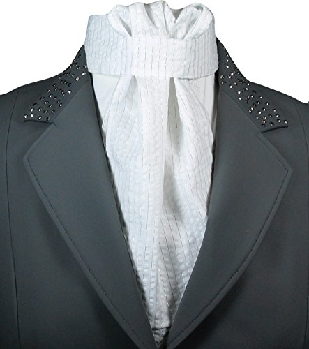 Equi Logic Silver Thread Stock Tie (White/Silver)