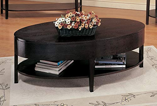 Desk Bedford Laptop (Gough Oval Coffee Table with Shelf Cappuccino)