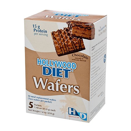 Hollywood Diet Wafers Chocolate (2 Boxes) by Hollywood Miracle Diet