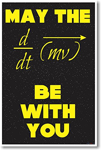 (May The Force Be With You - NEW Classroom Science Physics Poster)