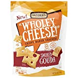 Snyder's of Hanover Wholey Cheese! Gluten Free Baked Cheese Crackers, Smoked Gouda, 5 Ounce