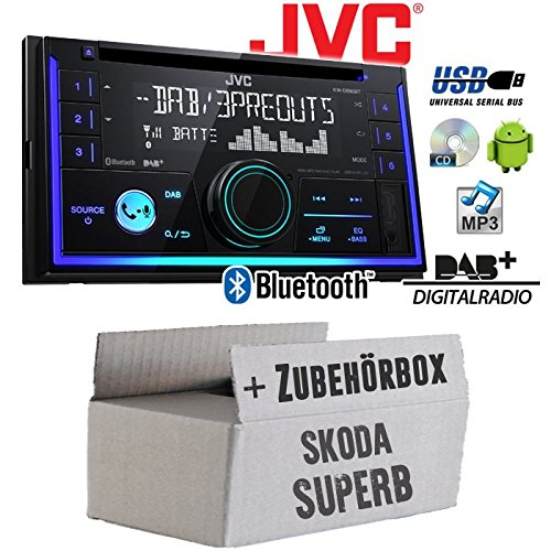 Skoda Superb 1 - Autoradio Radio JVC KW-DB93BT - 2-Din DAB+ Bluetooth MP3 USB - Einbauzubehö r - Einbauset JUST SOUND best choice for caraudio SkSu1-2D_KW-DB93BT