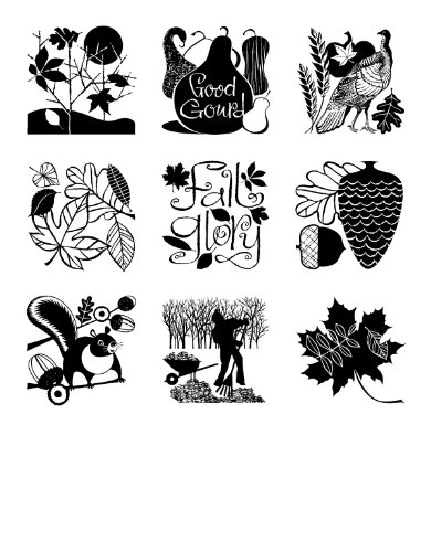 Inkadinkado Inchie Clear Stamps, Autumn Time