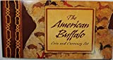 2001 The American Buffalo Coin and Currency Set With Stamp and replica Silver 5 dollar Certificate. No Coin! .