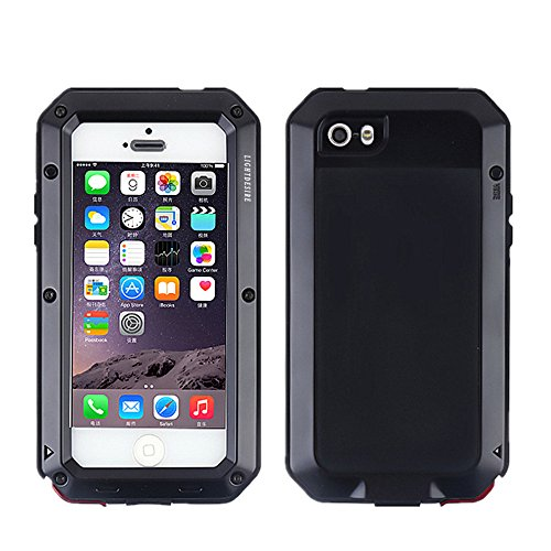 the latest 6b5a8 1327d iPhone 5SE 5S Case,LIGHTDESIRE [Newest] Aluminum Alloy Protective Metal  Extreme Water Resistant Shockproof Military Bumper Heavy Duty Cover Shell  ...