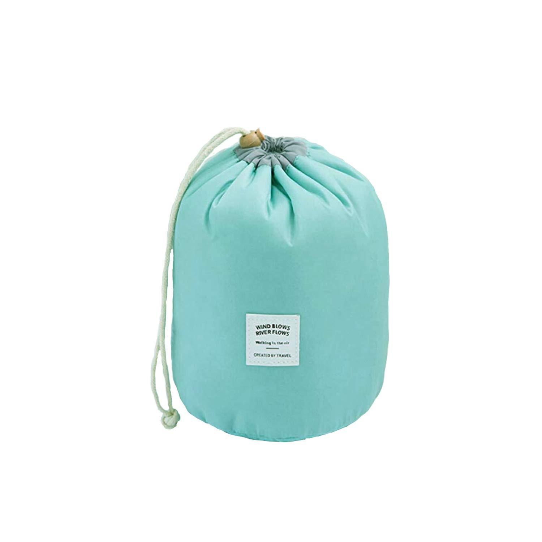 Waterproof Travel Bag Makeup bag Cosmetic Bag Travel Kit Organizer Bathroom Storage Cosmetic Bag Carry Case Toiletry Bag Multifunctional Bucket Toiletry Bag sky blue