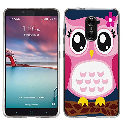 best service 1a01c 3d55c ZTE ZMAX Pro case - [Pink Owl] (Crystal Clear) PaletteShield Soft Flexible  TPU gel skin phone cover (fit ZTE ZMAX Pro/ Grand X Max 2/ Imperial Max/ ...