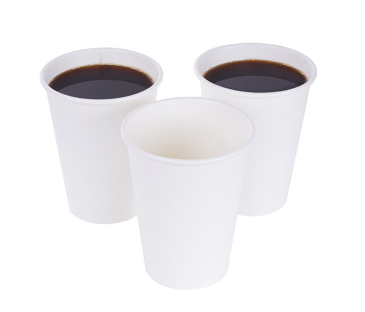 TashiBox 12 oz White Hot Drink Paper Cups - 120 Count - Disposable Paper Coffee Cups by TashiBox (Image #3)