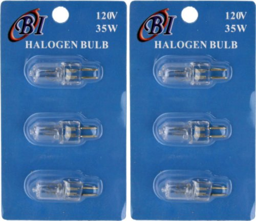 Halogen Bulb 3pc Set (For Electric Oil Warmers) 2 Pk 35 Watt (Electric Oil Warmer Plug In compare prices)
