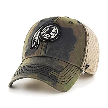 8195d72d2 ... real washington redskins 47 brand green howitzer camo burnett mesh  adjustable hat cap 1530a 94e97
