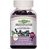 Health & Personal Care : Nature's Way Sambucus Elderberry Kid's Gummies Herbal Supplements, 60 Count | Black Elderberry |Vitamin C | Zinc |