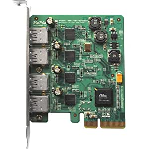 HighPoint RocketU Quad USB 3.0 PCI-Express 2.0 x4 RAID HBA for Mac