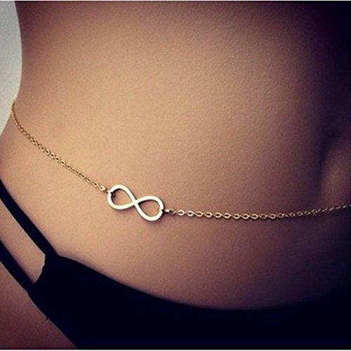 Fashion Design Belly Chain Sexy Bikini Body Chain Infinity Belly Chain