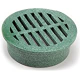NDS 13 Plastic Round Grate, 4-Inch, Green