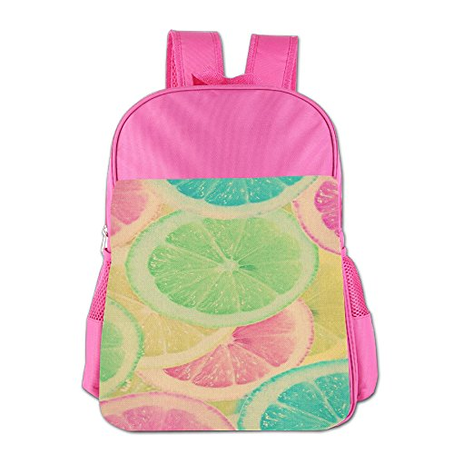 Price comparison product image Colourful Lemon Print Kid's School Lightweight Waterproof Backpack Snack Backpack
