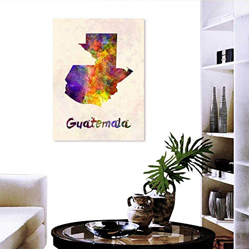 (duommhome Wall Stickers for Girls Guatemala map in Watercolor 20