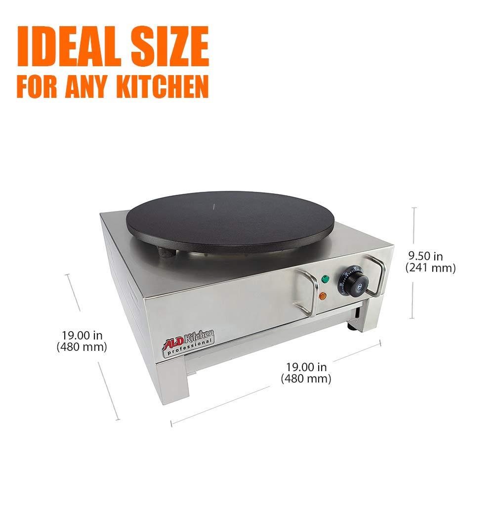 ALDKitchen Electric Crepe Machine Griddle, Commercial Electric Plate Crepe Machine Snack Machine Electric Hot Plate (Single) by ALDKitchen (Image #5)