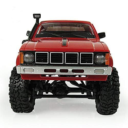 (Littleice WPL WD RC Truck 1/16 2.4Ghz Remote Control Crawler Military Truck Assemble Kit Remote Control Vehicle Toy (Red))