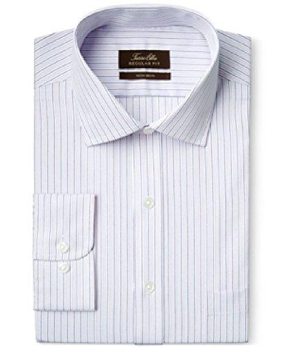 Tasso Elba Non-Iron Pale Pink Stripe Dress Shirt (Neck 15 Sleeve 34/35)